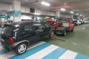 holowanie auta z garażu podziemnego